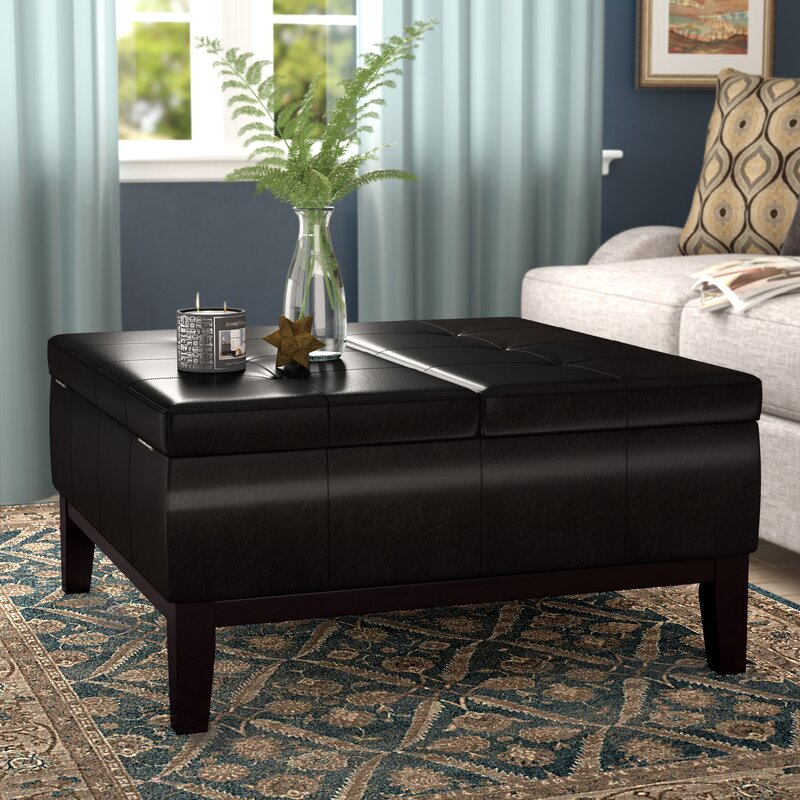Gentil Dover Square Coffee Table Ottoman And Split Lift Lid