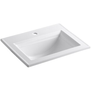 Affordable Memoirs® Ceramic Rectangular Drop-In Bathroom Sink with Overflow By Kohler