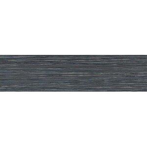 Fabrique 6'' x 24'' Porcelain Fabric Look/Field Tile in Noir Linen