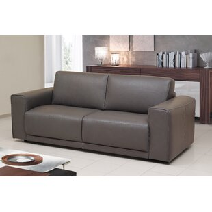 Read Reviews Rowley Genuine Leather Sofa Bed Sleeper by Orren Ellis Reviews (2019) & Buyer's Guide