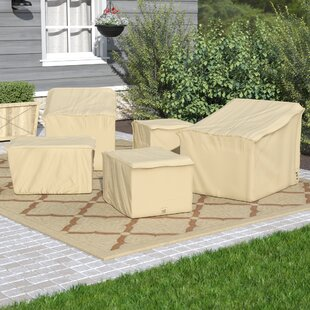 Andover Mills 5 Piece Water Resistant Club Chair Covers Set
