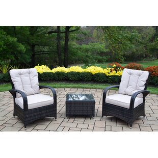 Borneo 3 Piece Conversation Set with Cushions