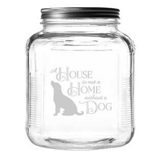 House Home Dog 4 qt. Pet Treat Jar