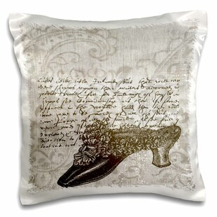 Shoe with French Script Pillow Cover