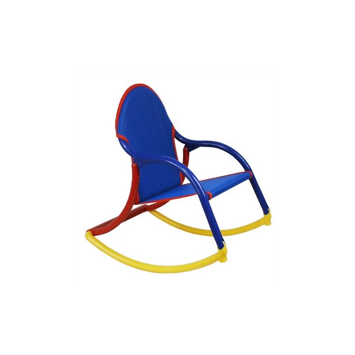 size 40 499fd ac396 Sotelo Personalized Kids Rocking Chair in Blue Mesh