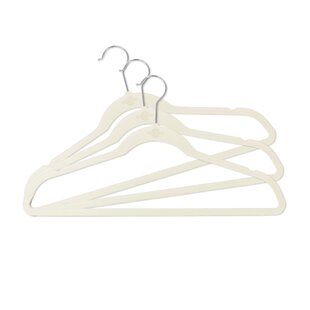 Find for Velvet Non-Slip Hanger (Set of 50) By Rebrilliant