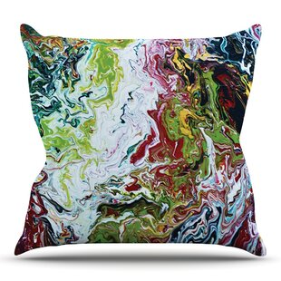 Chaos By Claire Day Outdoor Throw Pillow by East Urban Home
