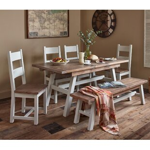 Scotland Extendable Dining Set With 2 Benches By August Grove