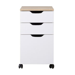 Wrought Studio Rosborough Modern 3 Drawer Mobile Vertical Filing Cabinet