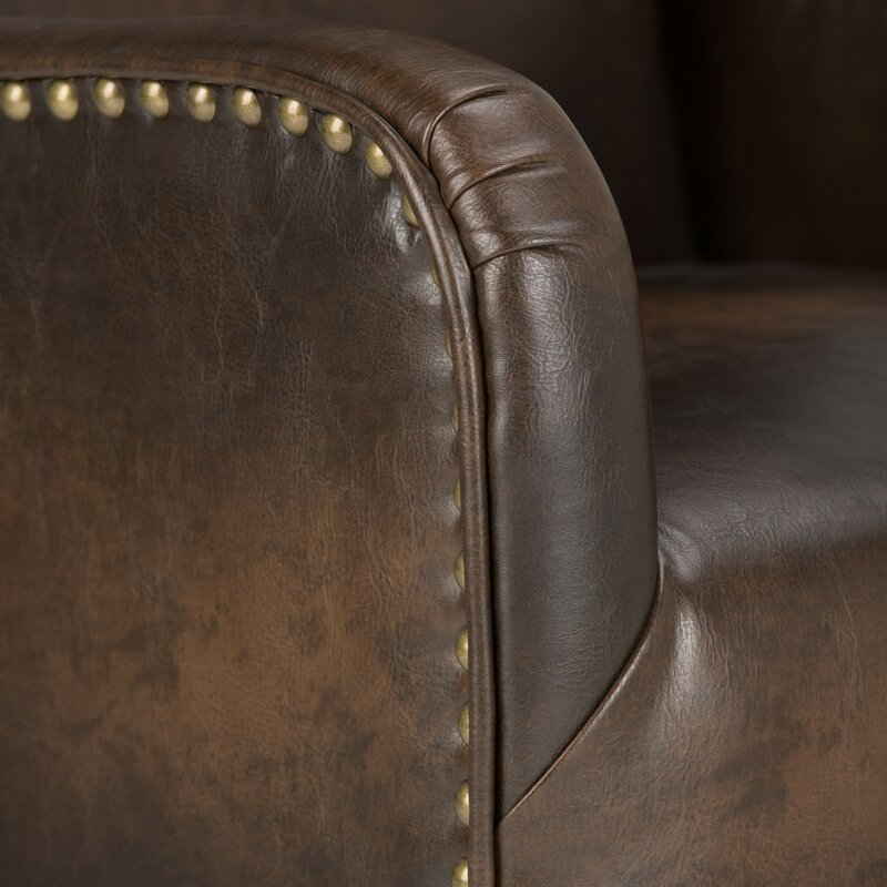 Taylor Bonded Leather Wingback Chair & Simpli Home Taylor Bonded Leather Wingback Chair u0026 Reviews | Wayfair