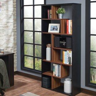 Brayden Studio Bensonhurst Rectangular Geometric Bookcase