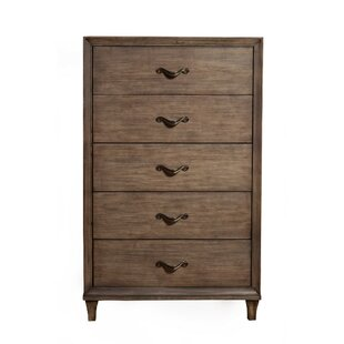 Loon Peak Wiliams Mahogany Wood 5 Drawer Chest