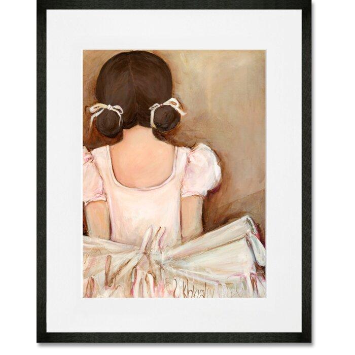 Oopsy Daisy \'Lovely Ballerina Brunette\' Framed Wall Art & Reviews ...