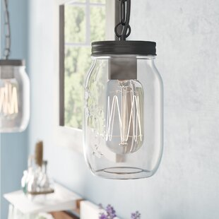 Gracie Oaks Rosemount 1-Light Jar Pendant