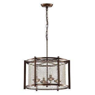 Szymanski 4-Light Drum Chandelier by Williston Forge