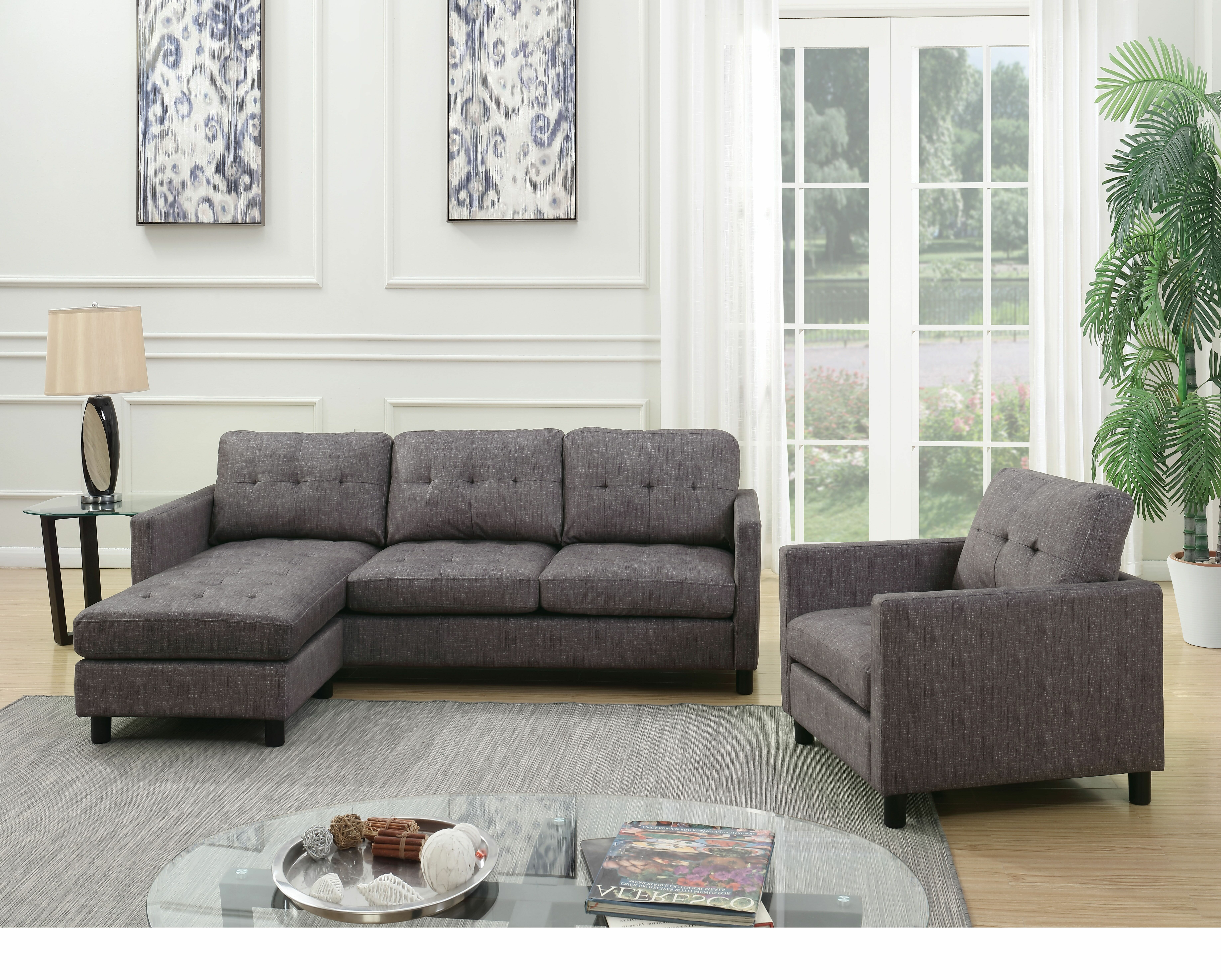 Reversible Sectional Sofa Chair