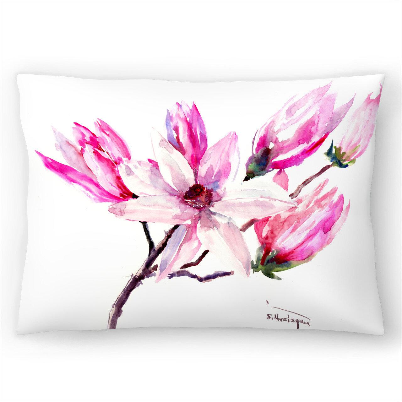 East Urban Home Suren Nersisyan Magnolia Flowers Lumbar Pillow Wayfair
