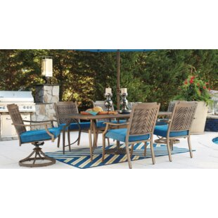 Tanesha 7 Piece Dining Set with Cushions By Bungalow Rose