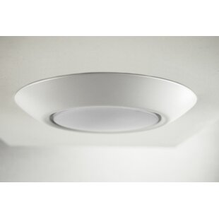 LosPalmos 1-Light LED Flush Mount by Ebern Designs
