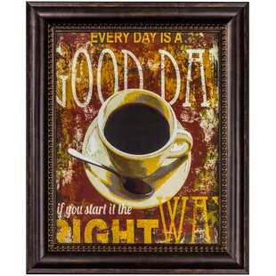 Coffee Cup Framed Textual Art On Canvas