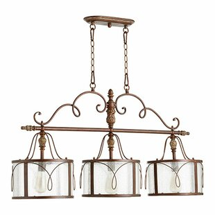 One Allium Way Paladino 3-Light Kitchen Island Pendant