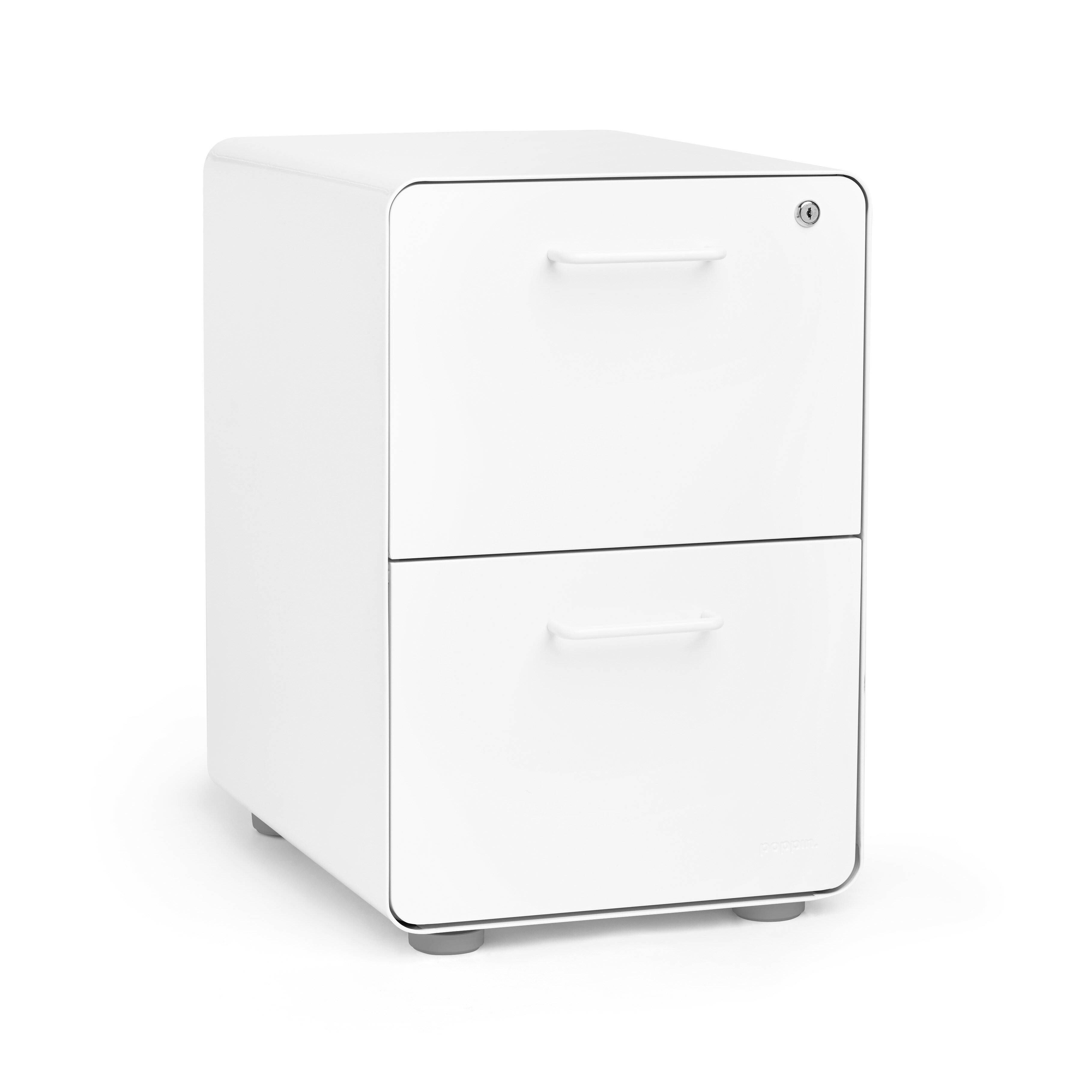 Poppin Black Stow 3-Drawer File Cabinet Available in 10 Colors Legal//Letter