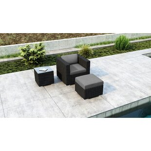 Glendale 3 Piece Patio Chair with Sunbrella Cushion