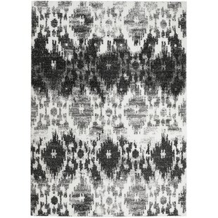 Savings Bobington White/Gray Area Rug By Bungalow Rose