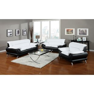 Quays 3 Piece Leather Living Room Set by Orren Ellis