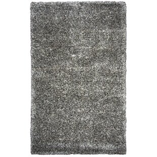 Affordable Ishtar Hand-Tufted Black Area Rug By Orren Ellis