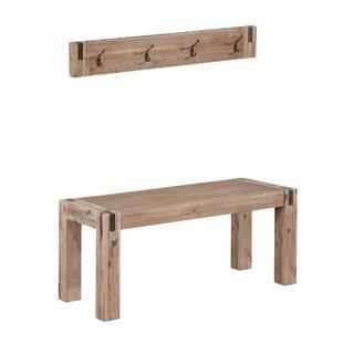 Gracie Oaks Henry Wood Bench