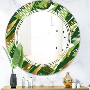 Triangular Design I Triple C Modern Frameless Wall Mirror by East Urban Home