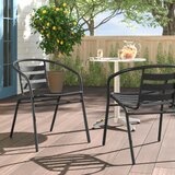 Pineville Stacking Patio Dining Chair (Set of 2) by Zipcode Design