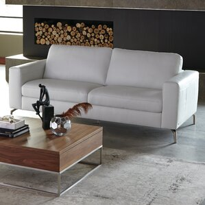 Fabio Leather Loveseat by Natuzzi Editions