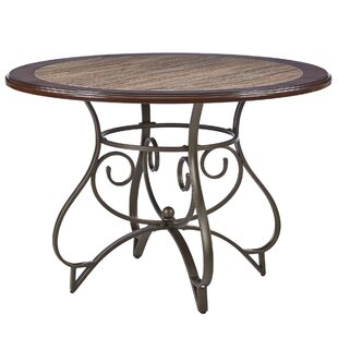 Best Reviews Corinne Metal Dining Table By Fleur De Lis Living