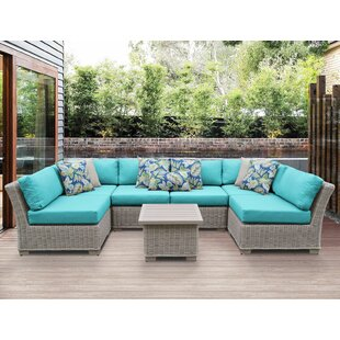 Coast 7 Piece Sectional Seating Group with Cushions