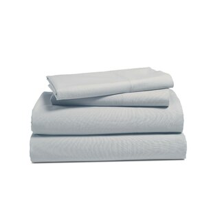 Edmund Solid Color 100% Cotton Percale Sheet Set