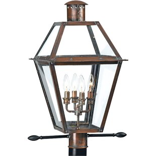 Reviews Millbrook Outdoor 4-Light Lantern Head By Three Posts
