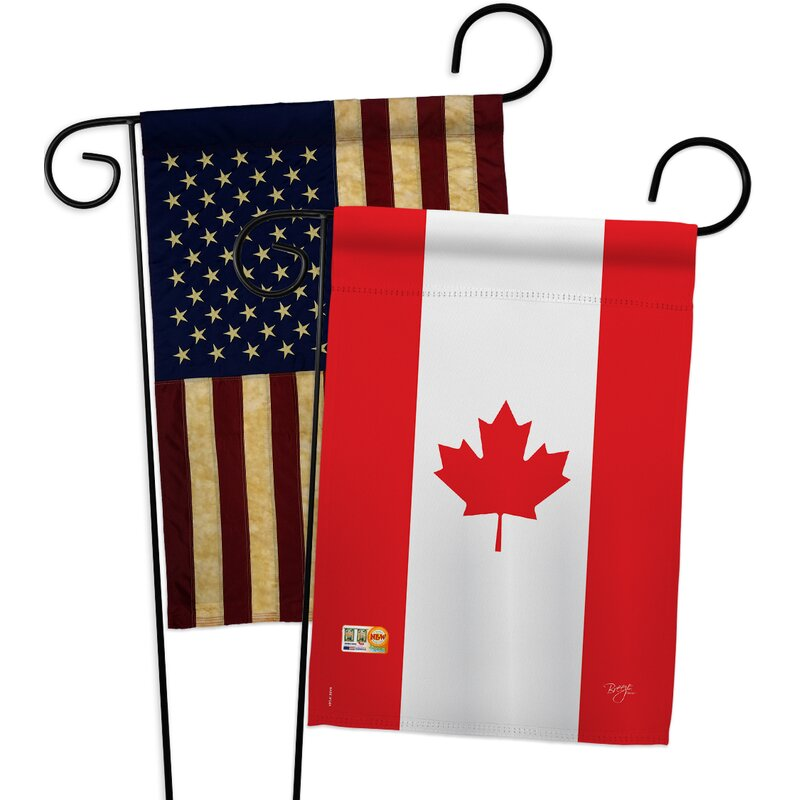 Breeze Decor Canada Impressions Decorative 2 Sided Polyester 19 X 13 In 2 Piece Garden Flag Set Wayfair