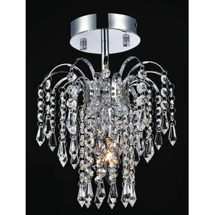 Palm Tree 1-Light Semi Flush Mount by CWI Lighting