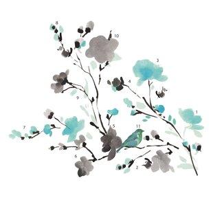 Deco Blossom Watercolor Bird Branch Wall Decal  sc 1 st  Wayfair & Nature u0026 Flower Wall Decals Youu0027ll Love | Wayfair