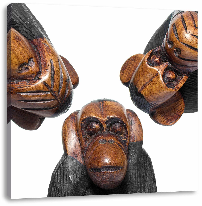 Leinwandbild Nichts Hören Nichts Sehen Nichts Sagen Affen