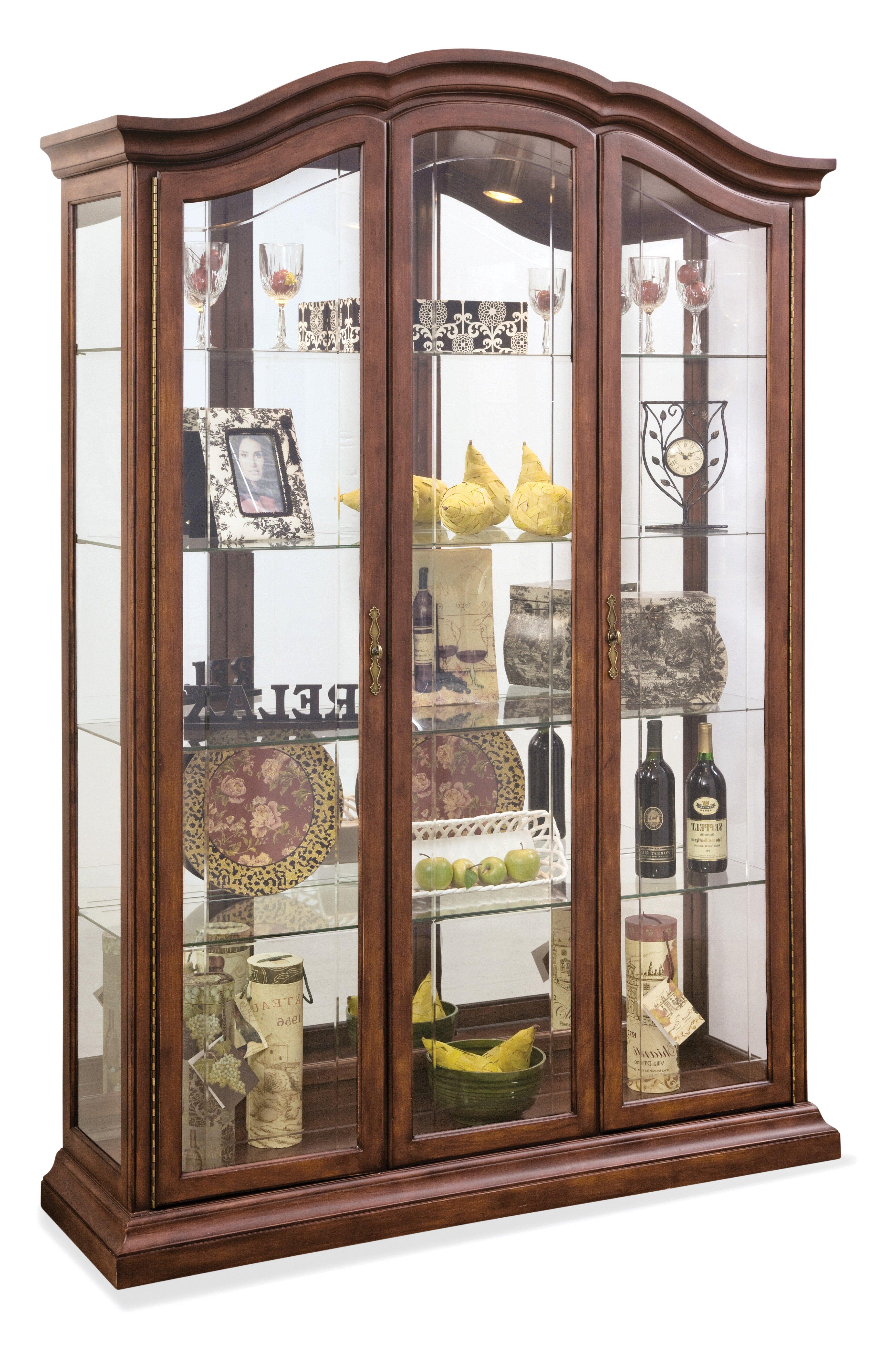 Elrosa Lighted Curio Cabinet