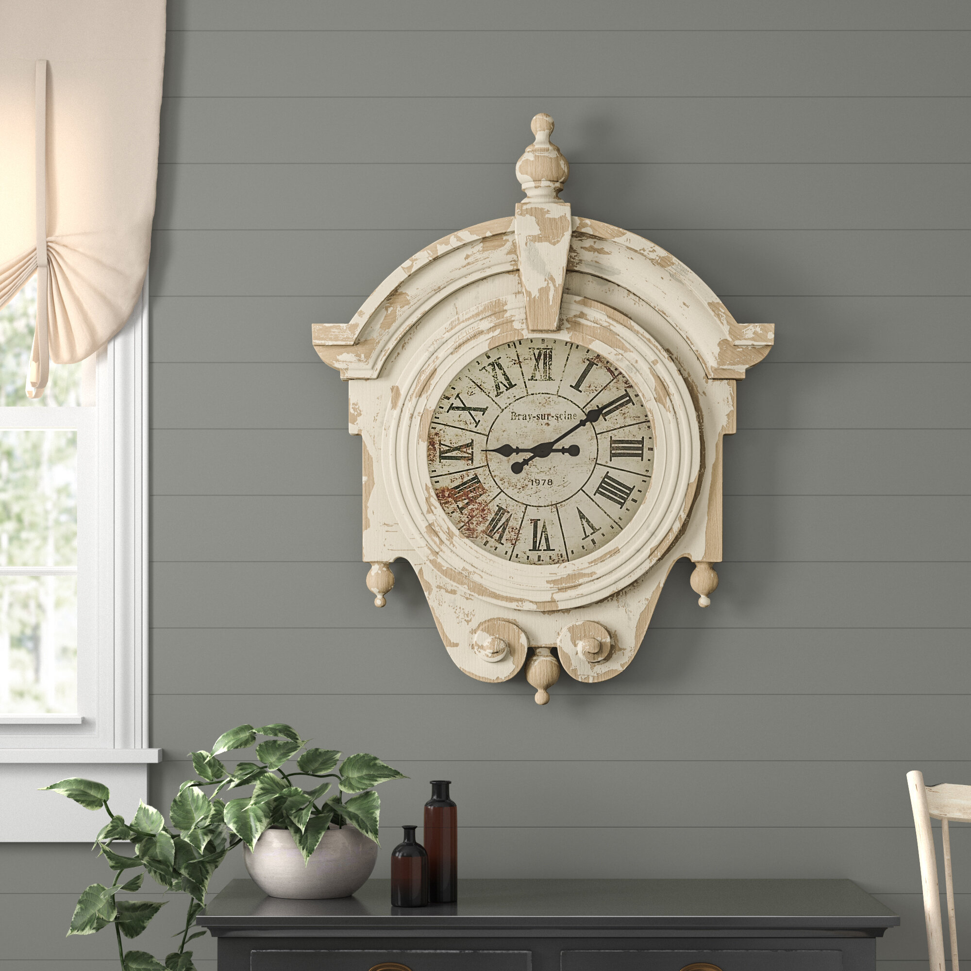 Birch Lane Pedra Oversized Wall Clock Reviews Wayfair