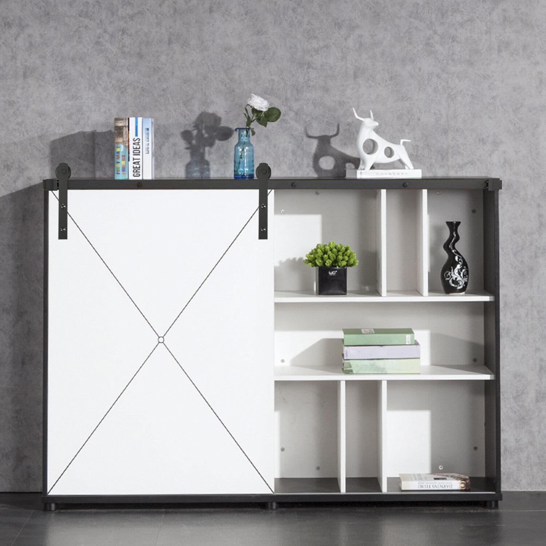 Ainfox Heavy Duty Sturdy Cabinet Sliding Standard Single Barn Door Hardware Kit