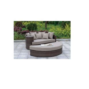 Vivaan Round Patio Daybed With Cushions By Brayden Studio
