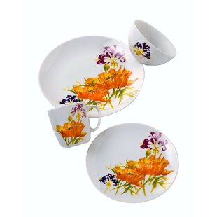Tiger Lilly 16 Piece Dinnerware Set, Service for 4
