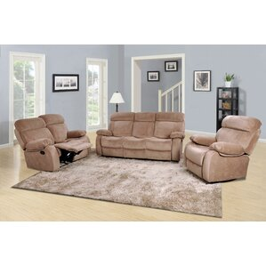Red Barrel Studio Topeka 3 Piece Living Room Set