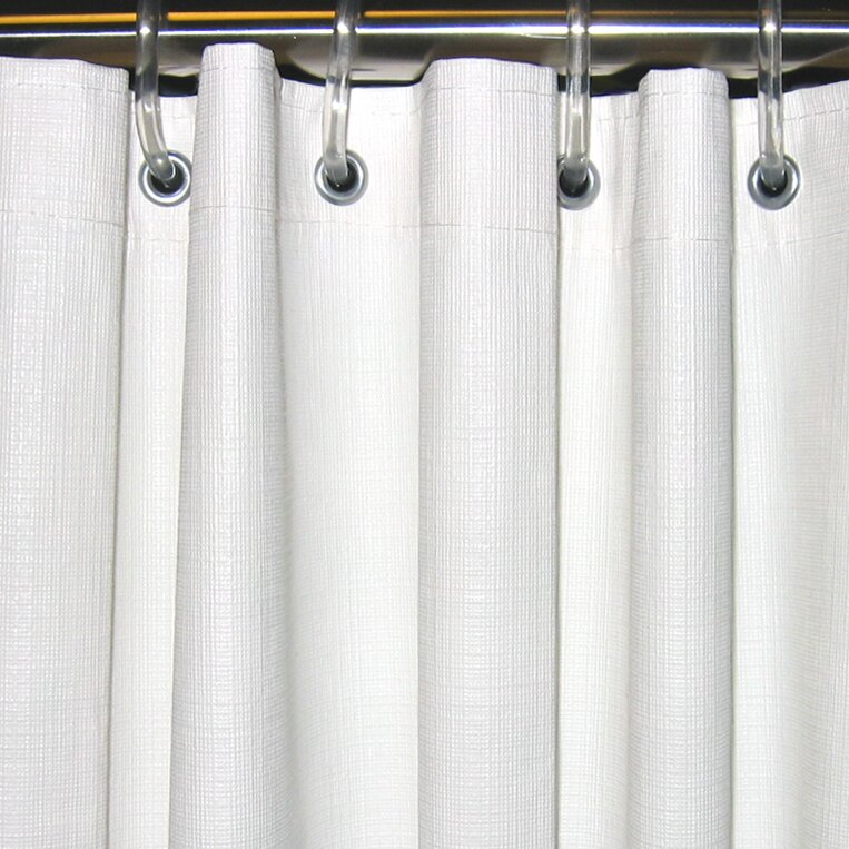 CSI Bathware Textured Vinyl Shower Curtain | Wayfair