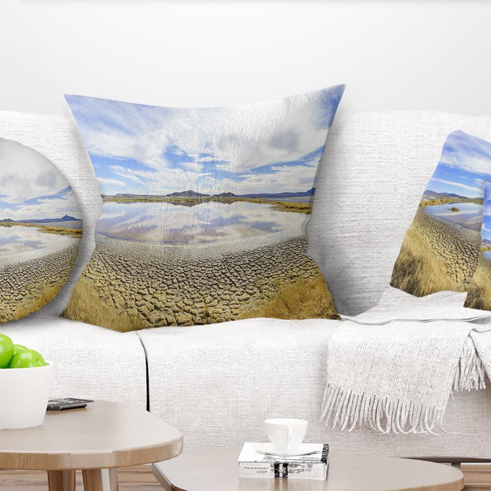 East Urban Home Landscape Beautiful Grimshaw Lake Pillow Wayfair
